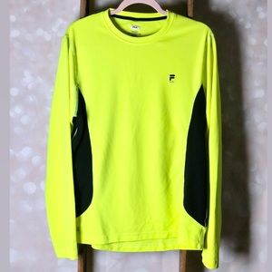 File Neon Yellow & Black Long Sleeve Shirt